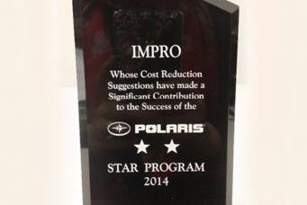 Polaris 颁发的星级供应商奖
