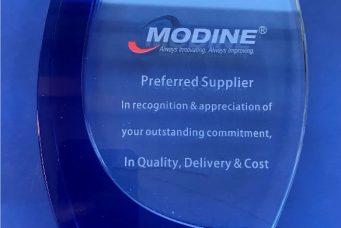 Modine颁发的优选供应商奖